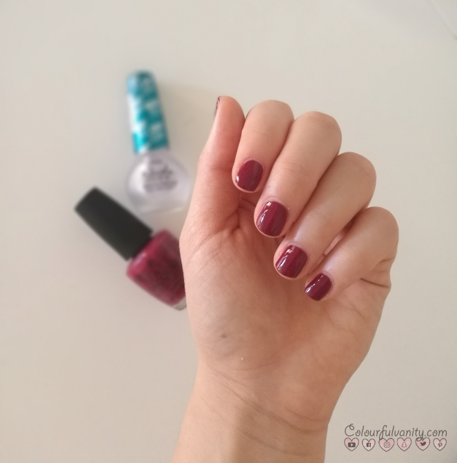 Just Beclaus OPI manicure