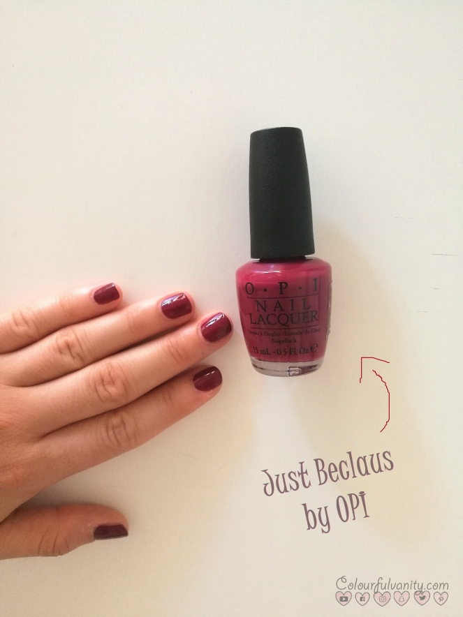 Just Beclaus opi swatch